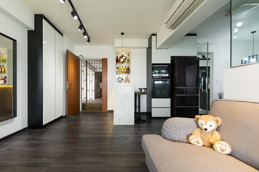 Modern, HDB, Living Room, Toa Payoh (Block 130B), Interior Designer, ELPIS Interior Design, Scandinavian, Teddy Bear, Toy, Building, Housing, Indoors, Loft, Couch, Furniture
