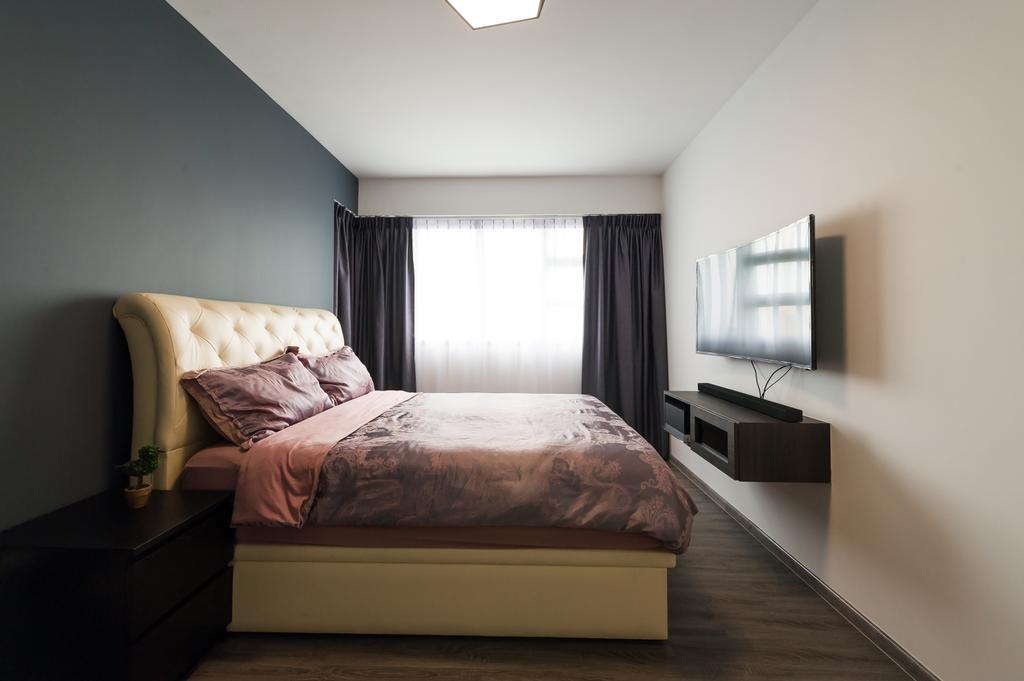 Modern, HDB, Bedroom, Toa Payoh (Block 130B), Interior Designer, ELPIS Interior Design, Scandinavian, Couch, Furniture, Chair, Curtain, Home Decor