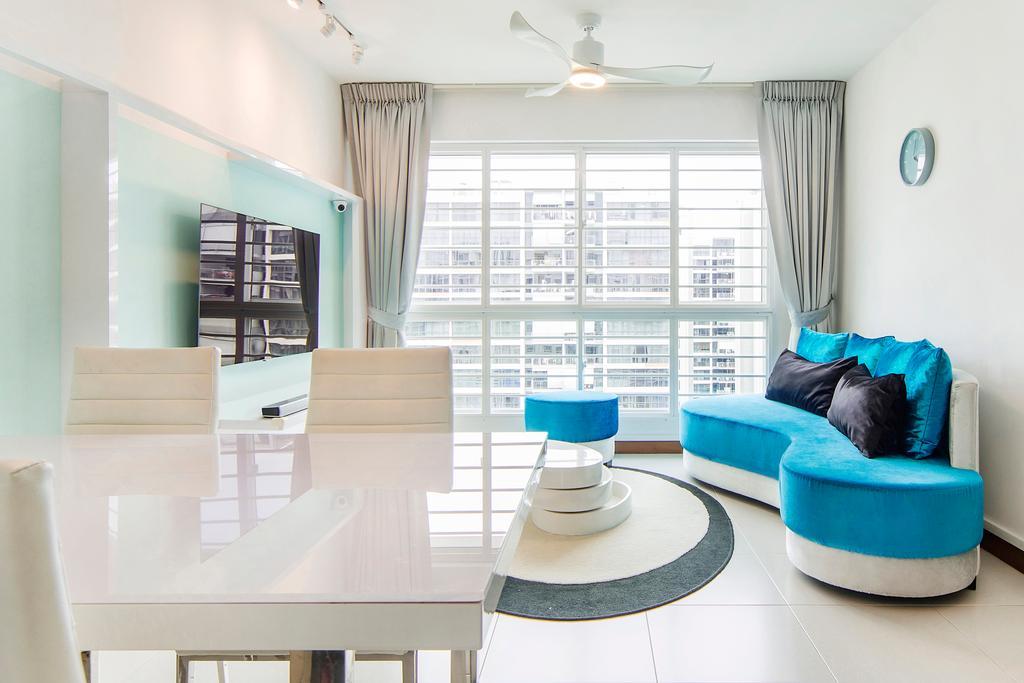 Eclectic, HDB, Living Room, Punggol Field (Block 268C), Interior Designer, Cozy Ideas Interior Design, Dining Room, Indoors, Interior Design, Room, Chair, Furniture