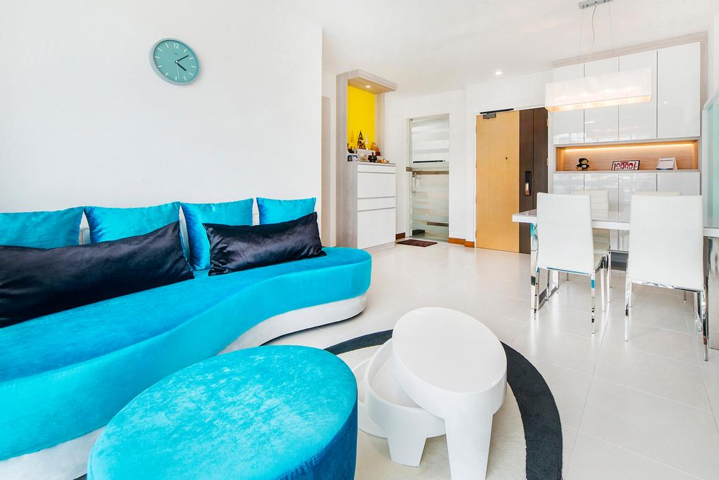 Eclectic, HDB, Living Room, Punggol Field (Block 268C), Interior Designer, Cozy Ideas Interior Design, Couch, Furniture