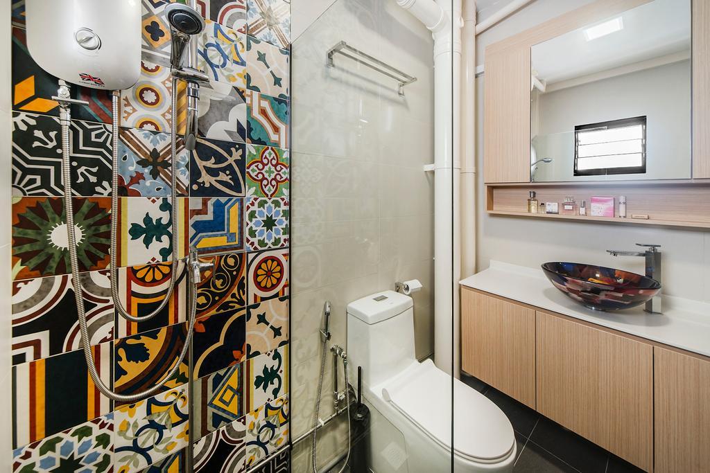 Modern, HDB, Bathroom, Bedok Reservoir (Block 766), Interior Designer, Cozy Ideas Interior Design, Scandinavian
