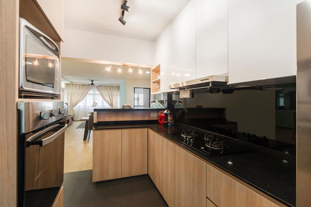Modern, HDB, Kitchen, Bedok Reservoir (Block 766), Interior Designer, Cozy Ideas Interior Design, Scandinavian, Indoors, Interior Design, Room, Appliance, Electrical Device, Oven