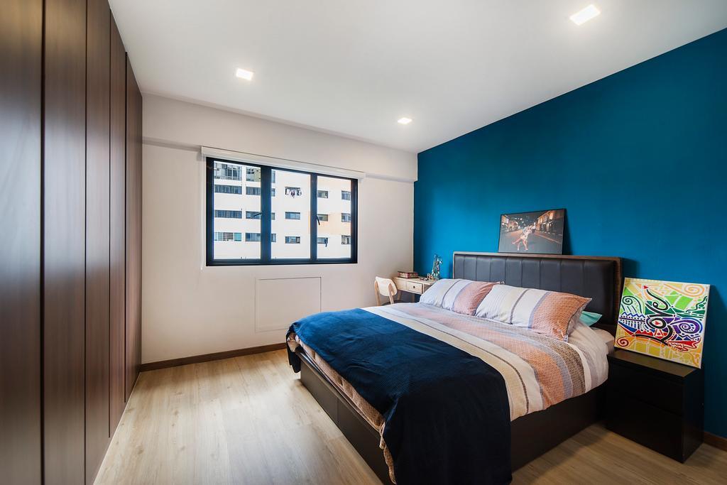 Modern, HDB, Bedroom, Bedok Reservoir (Block 766), Interior Designer, Cozy Ideas Interior Design, Scandinavian, Indoors, Interior Design, Room, Bed, Furniture, Book