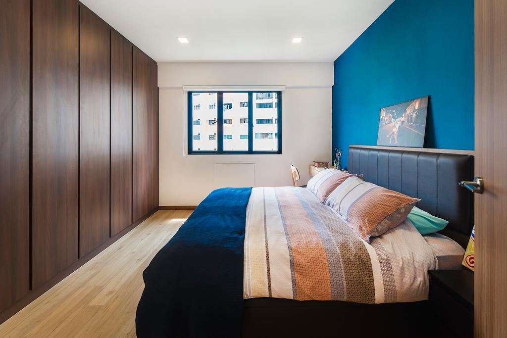 Modern, HDB, Bedroom, Bedok Reservoir (Block 766), Interior Designer, Cozy Ideas Interior Design, Scandinavian, Bed, Furniture, Indoors, Interior Design, Room