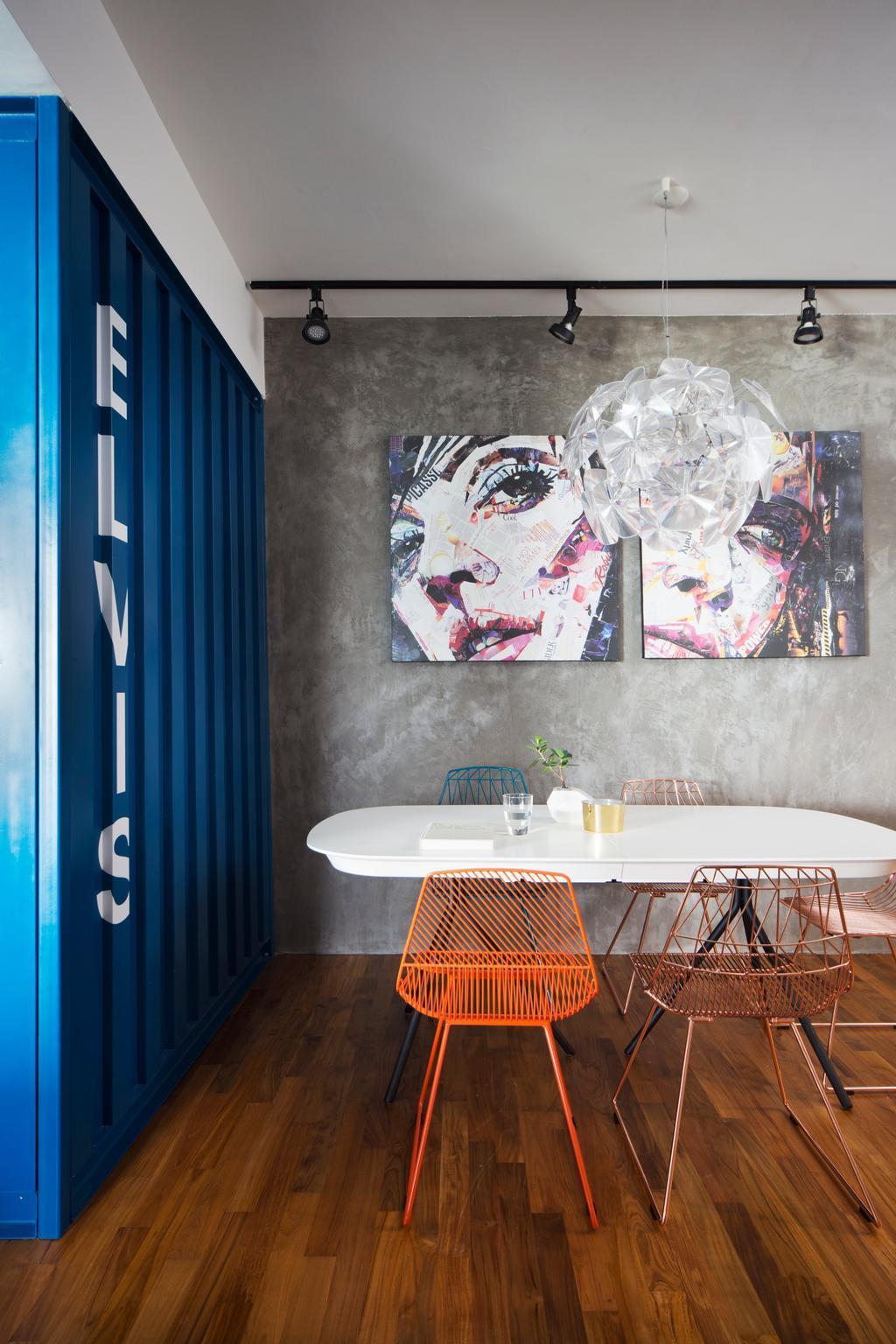 Eclectic, Condo, Dining Room, Cityscape (Farrer Park), Interior Designer, Prozfile Design, Bathroom, Indoors, Interior Design, Room