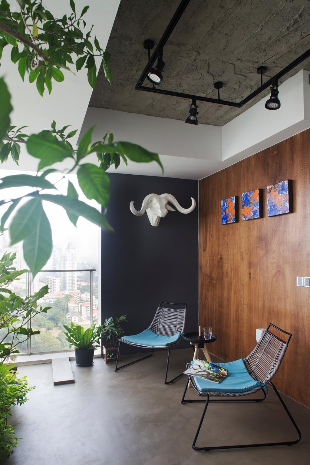 Eclectic, Condo, Balcony, Cityscape (Farrer Park), Interior Designer, Prozfile Design, Flora, Plant, Leaf