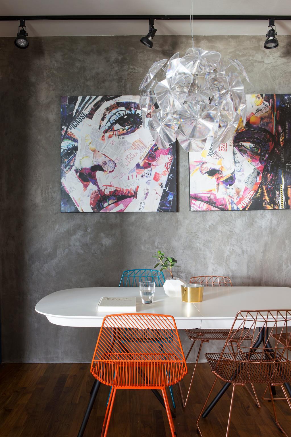 Eclectic, Condo, Dining Room, Cityscape (Farrer Park), Interior Designer, Prozfile Design, Flora, Jar, Plant, Potted Plant, Pottery, Vase, Collage, Poster, Book