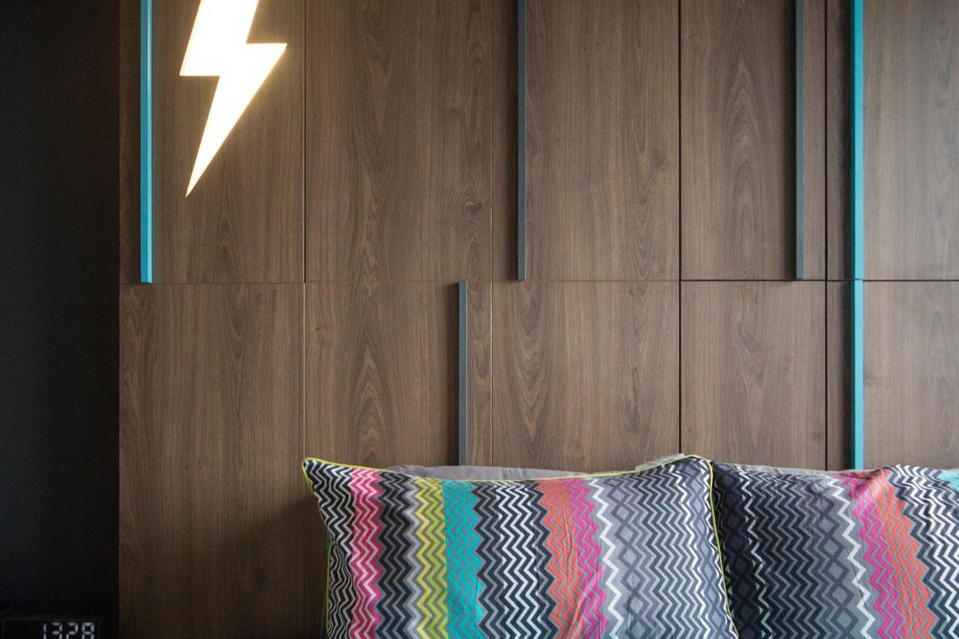 Cityscape (Farrer Park), Prozfile Design, Eclectic, Bedroom, Condo, Blanket, Home Decor