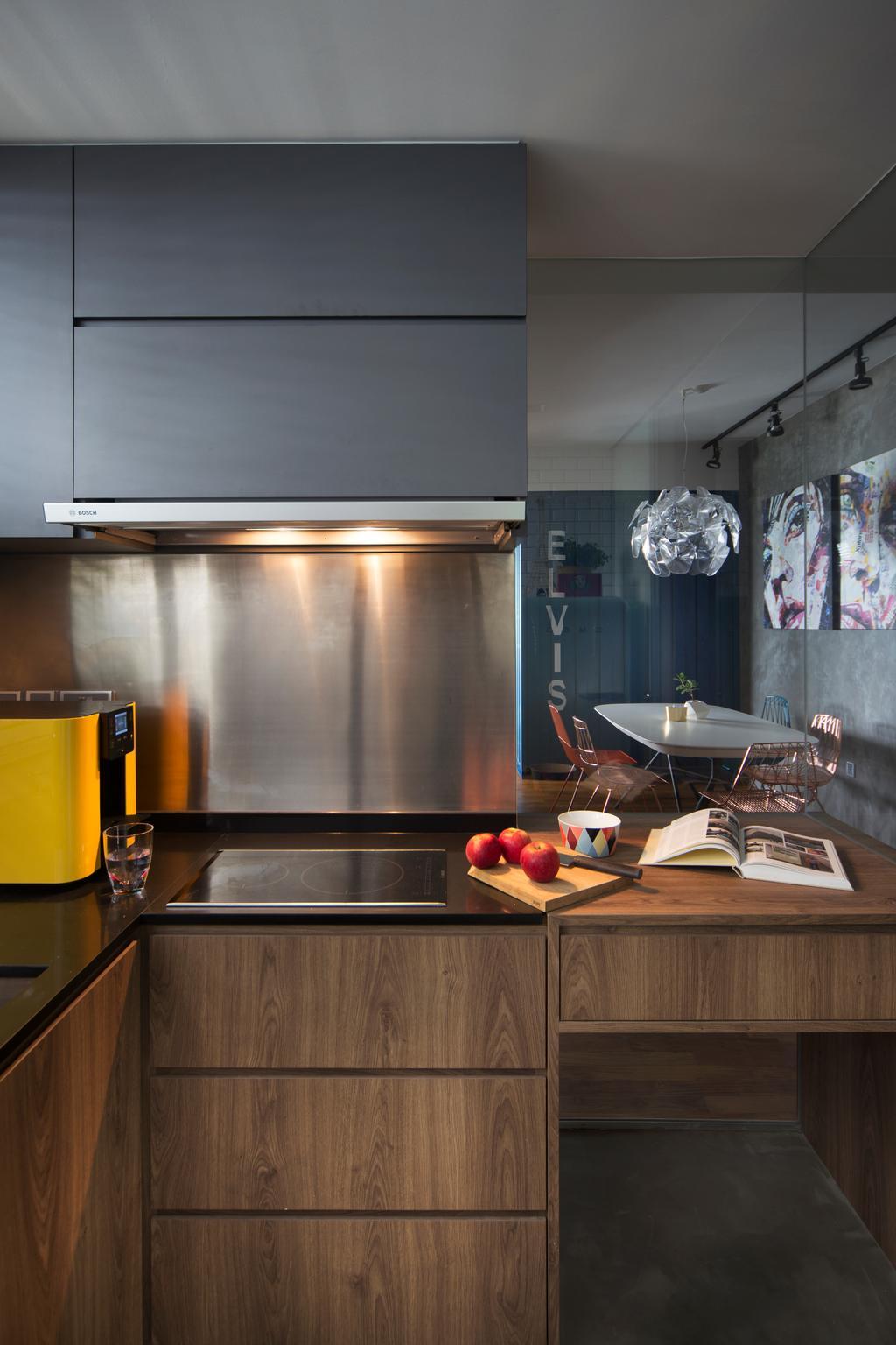 Eclectic, Condo, Kitchen, Cityscape (Farrer Park), Interior Designer, Prozfile Design, Dining Room, Indoors, Interior Design, Room