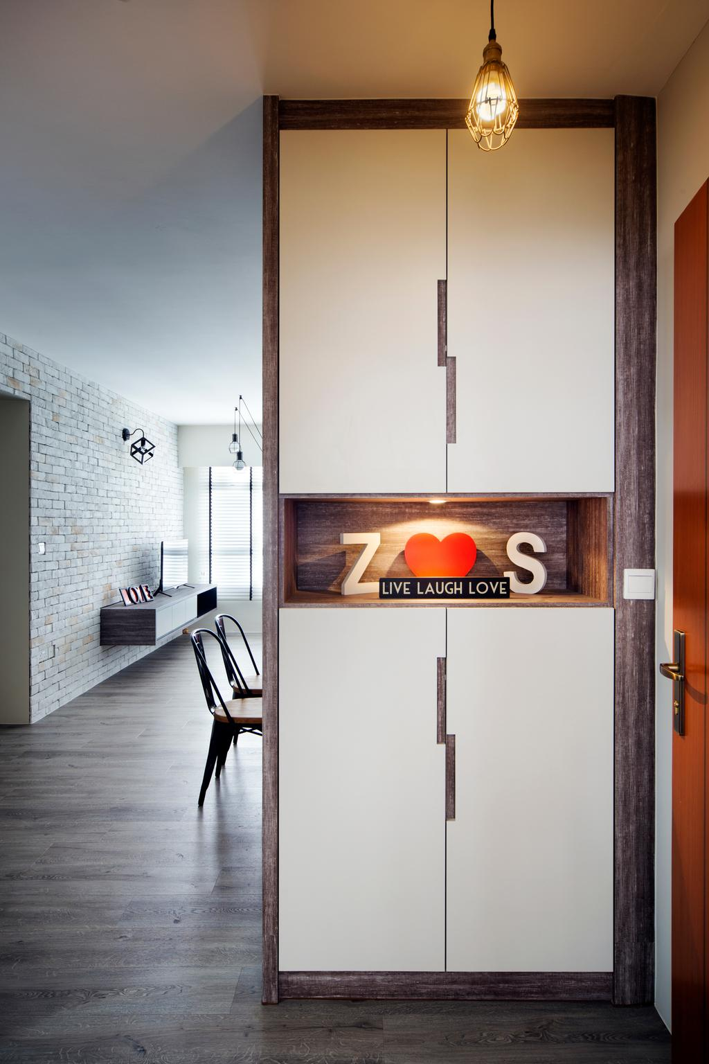 Industrial, HDB, Living Room, Tampines Greenleaf (Block 523D), Interior Designer, Chapter One Interior Design, Sink, Indoors, Interior Design