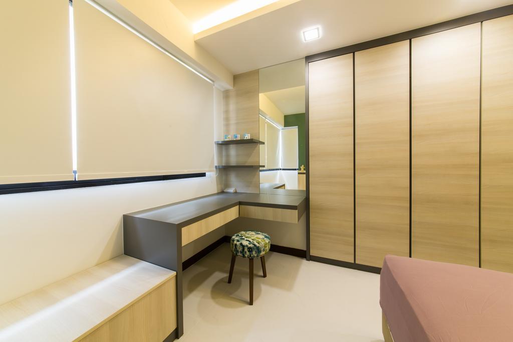 Scandinavian, HDB, Bedroom, Punggol Topaz, Interior Designer, Edge Interior, Indoors, Interior Design