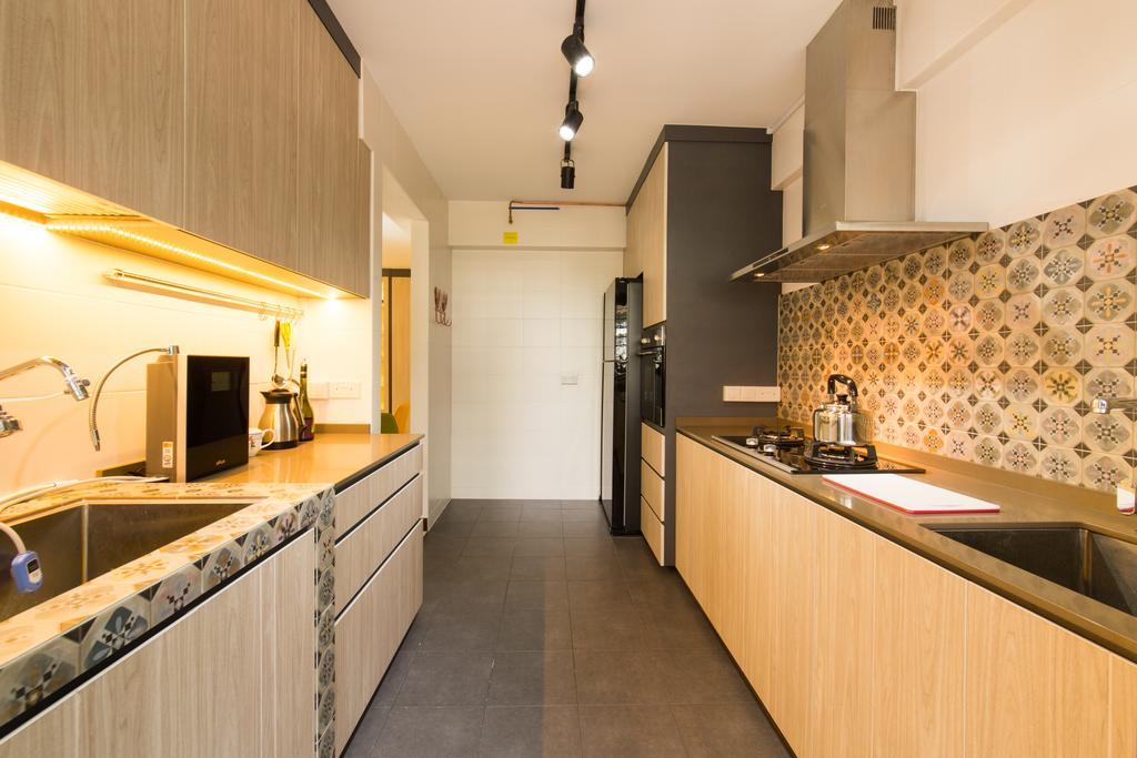 Scandinavian, HDB, Bedroom, Punggol Topaz, Interior Designer, Edge Interior, Door, Sliding Door, Bathroom, Indoors, Interior Design, Room