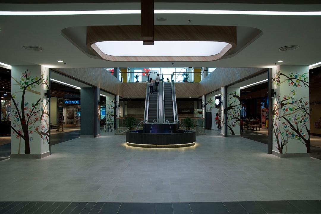 Courtyard Mall, Subang Jaya, Core Design Workshop, Modern, Contemporary, Eclectic, Industrial, Commercial, Fountain, Water