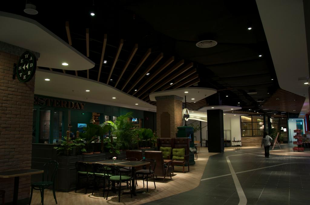 Courtyard Mall, Subang Jaya, Commercial, Interior Designer, Core Design Workshop, Modern, Contemporary, Eclectic, Industrial, Flora, Jar, Plant, Potted Plant, Pottery, Vase, Bench, Patio