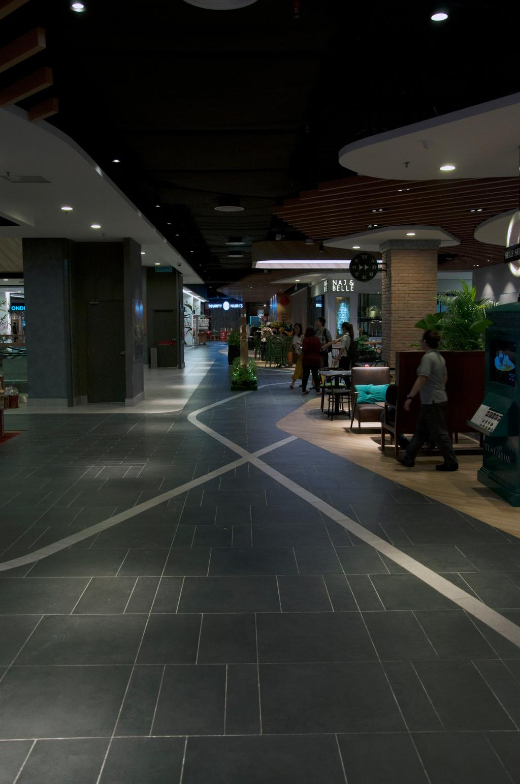 Courtyard Mall, Subang Jaya, Commercial, Interior Designer, Core Design Workshop, Modern, Contemporary, Eclectic, Industrial, Flora, Jar, Plant, Potted Plant, Pottery, Vase, Couch, Furniture, Airport Terminal, Terminal