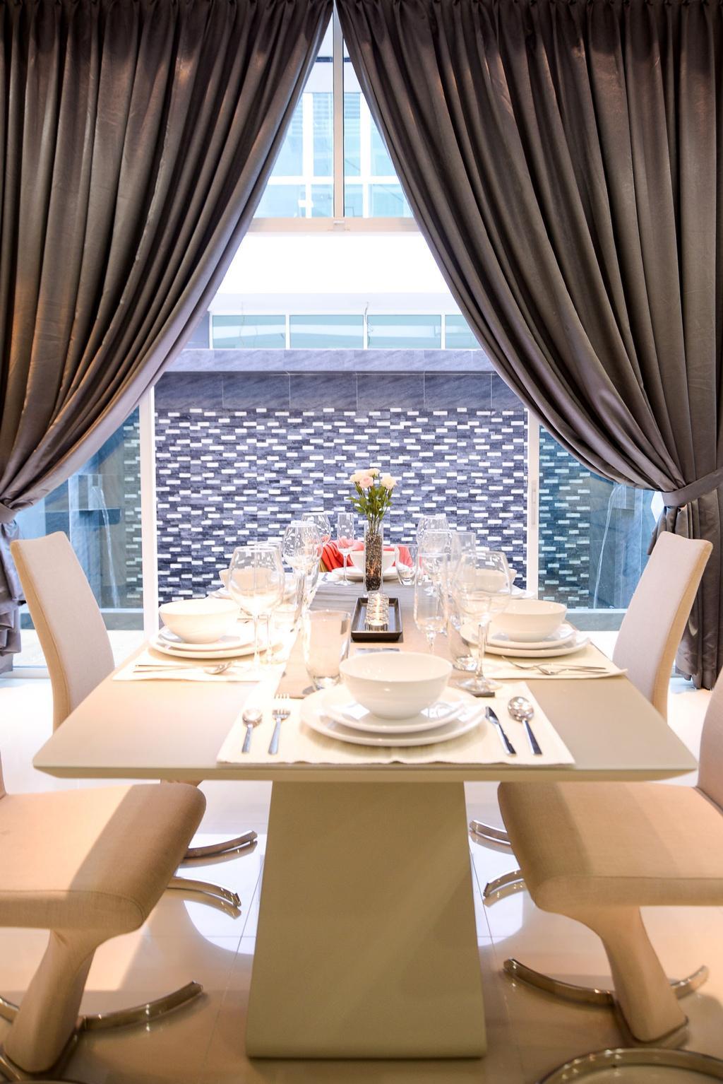 Modern, Landed, Dolomite Templer, Rawang, Interior Designer, Zyon Studio Sdn. Bhd., Eclectic, Transitional, Dining Room, Indoors, Interior Design, Room