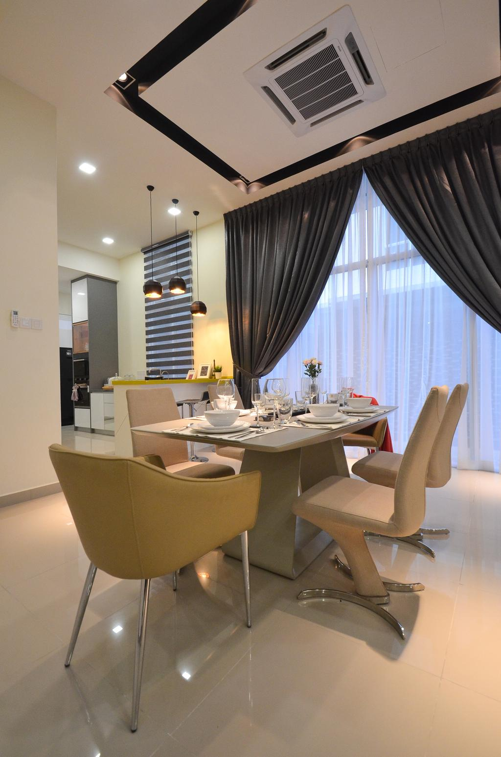Modern, Landed, Dolomite Templer, Rawang, Interior Designer, Zyon Studio Sdn. Bhd., Eclectic, Transitional, Chair, Furniture, Dining Room, Indoors, Interior Design, Room, Couch, Dining Table, Table