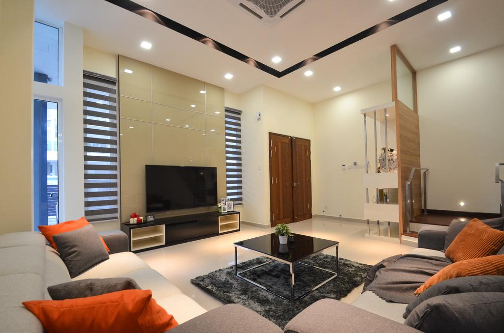 Modern, Landed, Dolomite Templer, Rawang, Interior Designer, Zyon Studio Sdn. Bhd., Eclectic, Transitional, Couch, Furniture, Apartment, Building, Housing, Indoors, Loft