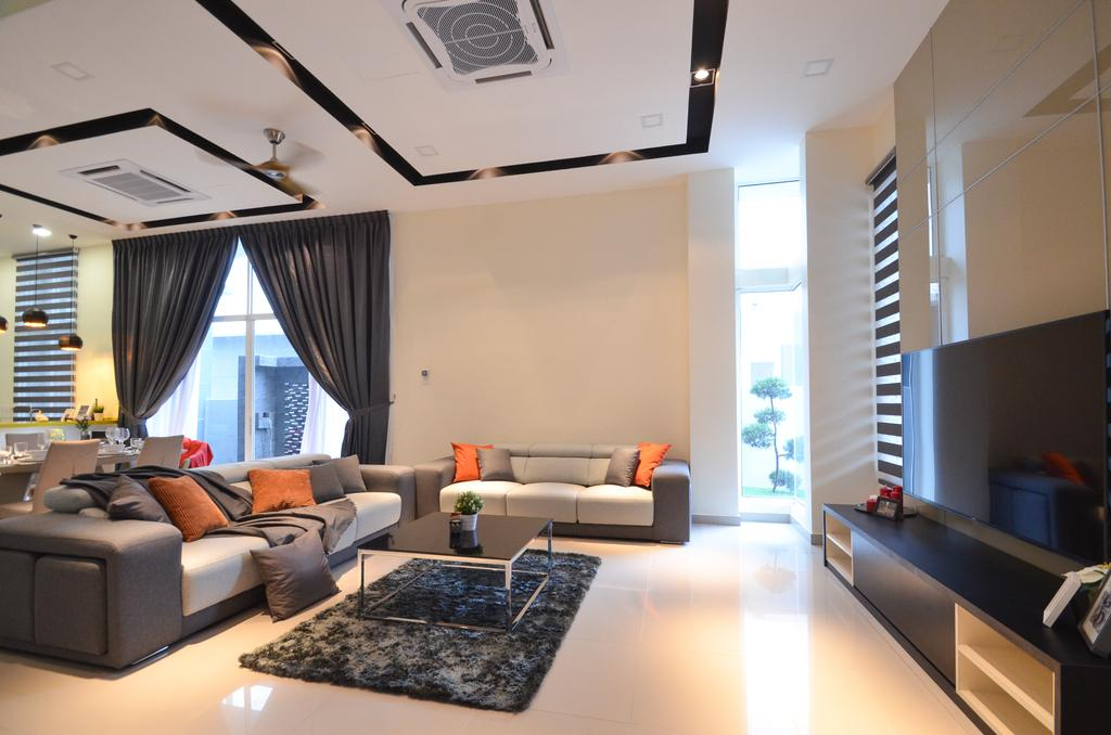 Modern, Landed, Dolomite Templer, Rawang, Interior Designer, Zyon Studio Sdn. Bhd., Eclectic, Transitional, Indoors, Interior Design, Apartment, Building, Housing, Loft, Room, Couch, Furniture
