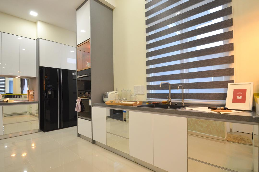 Dolomite Templer, Rawang, Zyon Studio Sdn. Bhd., Modern, Eclectic, Transitional, Landed, Appliance, Electrical Device, Fridge, Refrigerator, Indoors, Interior Design, Kitchen, Room