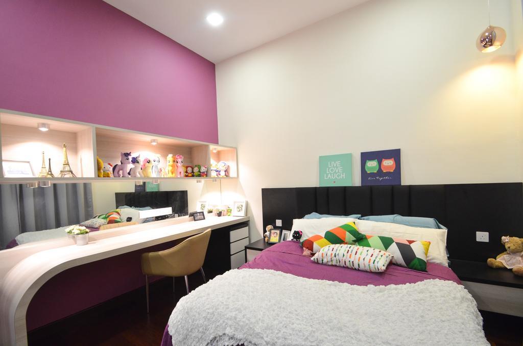 Modern, Landed, Dolomite Templer, Rawang, Interior Designer, Zyon Studio Sdn. Bhd., Eclectic, Transitional, Bedroom, Indoors, Interior Design, Room