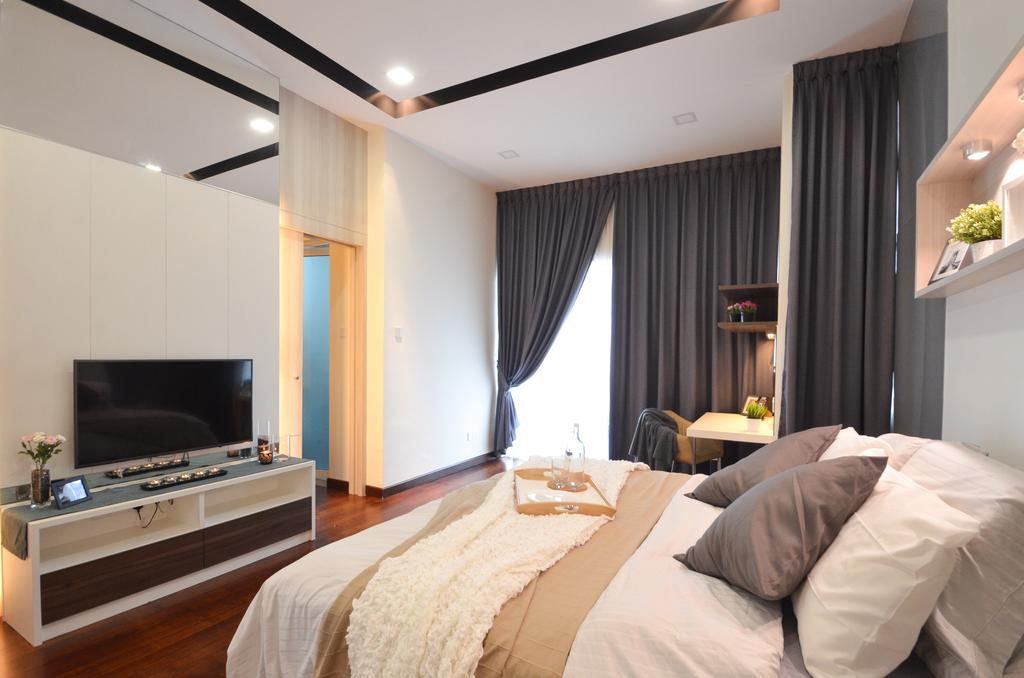 Modern, Landed, Dolomite Templer, Rawang, Interior Designer, Zyon Studio Sdn. Bhd., Eclectic, Transitional, Bed, Furniture, Spa, Indoors, Room