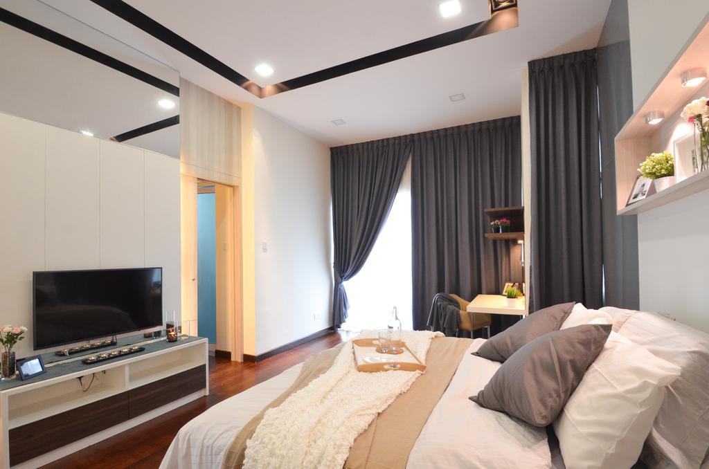 Modern, Landed, Dolomite Templer, Rawang, Interior Designer, Zyon Studio Sdn. Bhd., Eclectic, Transitional, Bedroom, Indoors, Interior Design, Room, Bed, Furniture