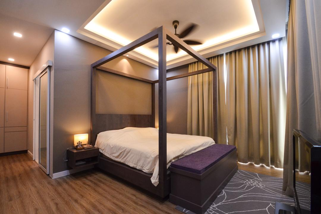 Damansara Foresta, Interior+ Design Sdn. Bhd., Minimalist, Modern, Landed, Bed, Furniture, Bedroom, Indoors, Interior Design, Room, Floor