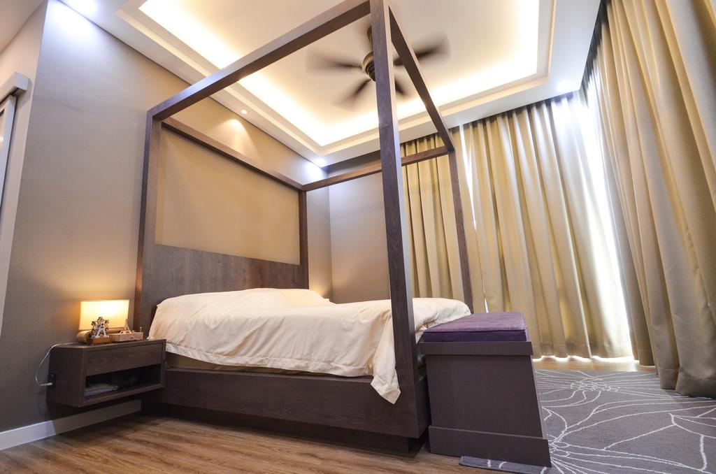 Minimalistic, Landed, Damansara Foresta, Interior Designer, Interior+ Design Sdn. Bhd., Modern, Bed, Furniture, Appliance, Electrical Device, Oven, Bedroom, Indoors, Interior Design, Room
