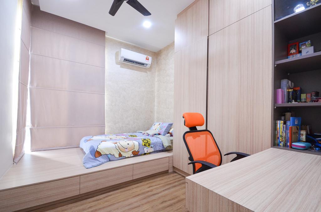 Minimalistic, Landed, Damansara Foresta, Interior Designer, Interior+ Design Sdn. Bhd., Modern, Chair, Furniture, Balcony, Indoors, Interior Design