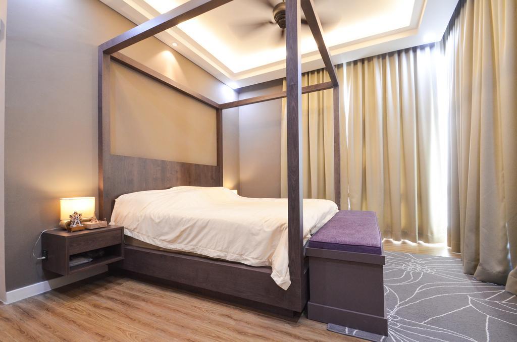 Minimalistic, Landed, Damansara Foresta, Interior Designer, Interior+ Design Sdn. Bhd., Modern, Bed, Furniture, Bedroom, Indoors, Interior Design, Room