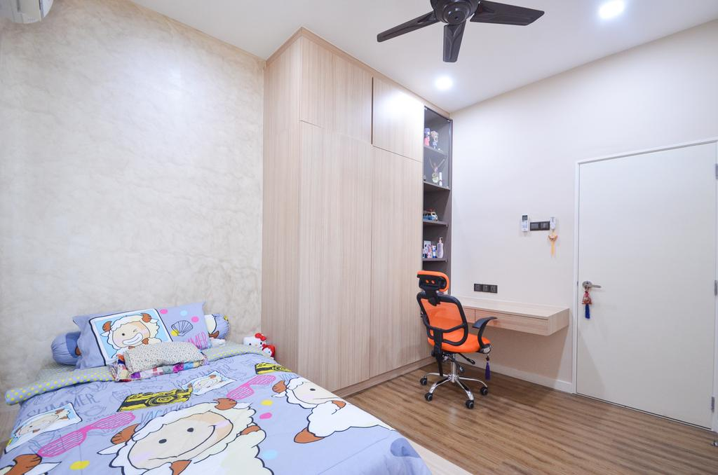 Minimalistic, Landed, Damansara Foresta, Interior Designer, Interior+ Design Sdn. Bhd., Modern, Apartment, Building, Housing, Indoors, Bedroom, Interior Design, Room