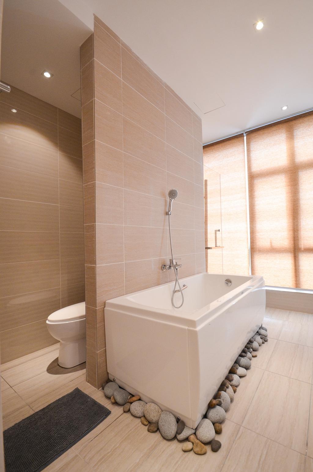 Minimalistic, Landed, Damansara Foresta, Interior Designer, Interior+ Design Sdn. Bhd., Modern, Toilet, Bathroom, Indoors, Interior Design, Room
