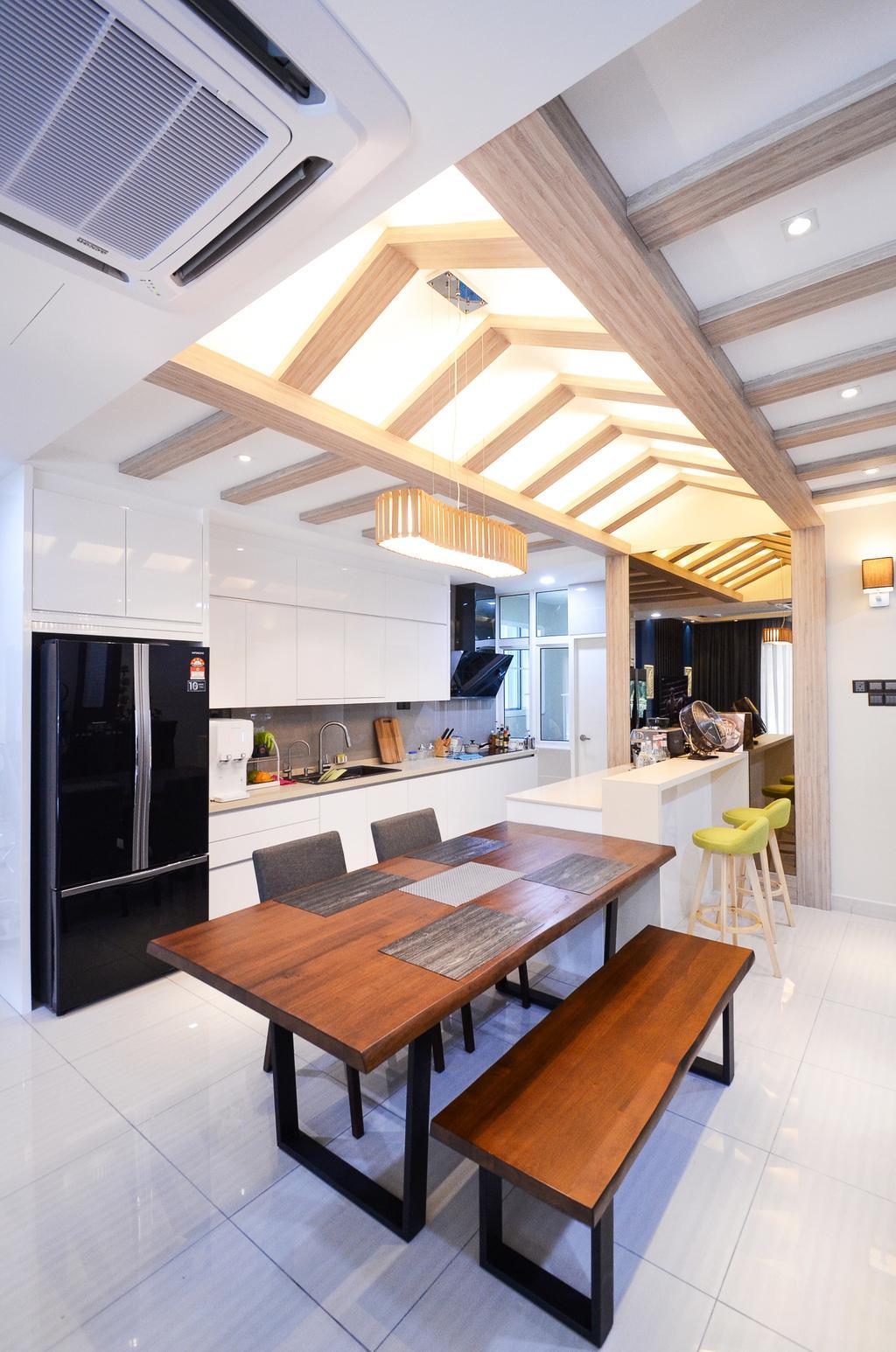 Minimalistic, Landed, Damansara Foresta, Interior Designer, Interior+ Design Sdn. Bhd., Modern, Indoors, Interior Design, Dining Room, Room