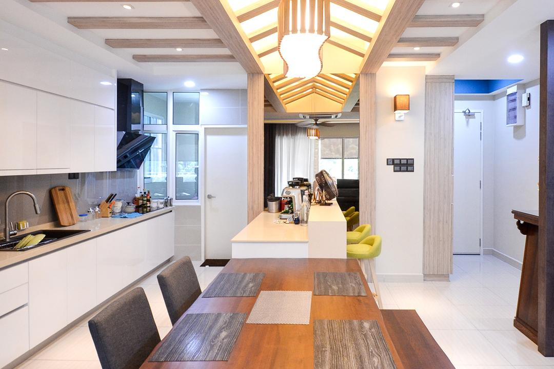Damansara Foresta, Interior+ Design Sdn. Bhd., Minimalistic, Modern, Landed, Flooring, Carpet, Home Decor, Arch, Arched, Architecture, Building, Vault Ceiling, Indoors, Interior Design