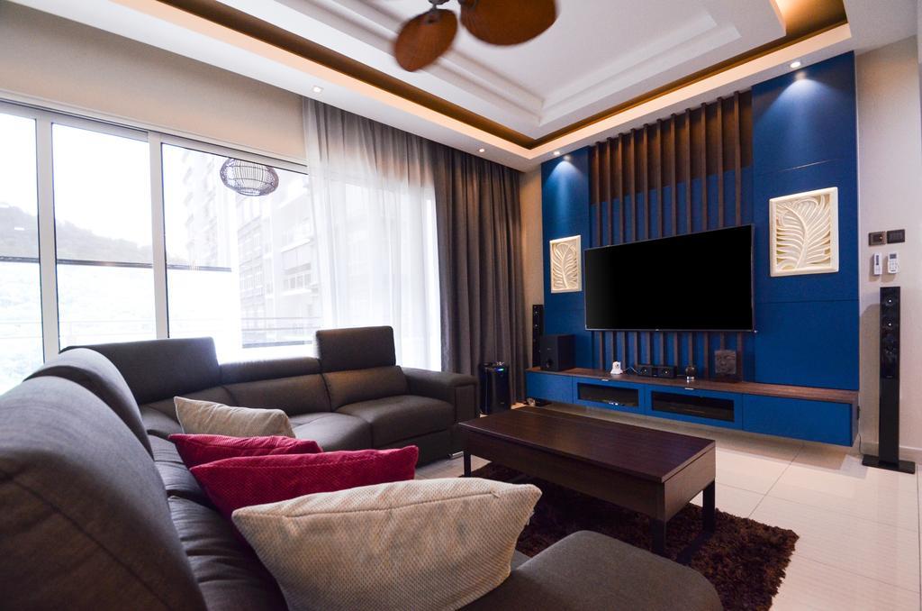 Minimalistic, Landed, Damansara Foresta, Interior Designer, Interior+ Design Sdn. Bhd., Modern, Couch, Furniture, Indoors, Interior Design, Room