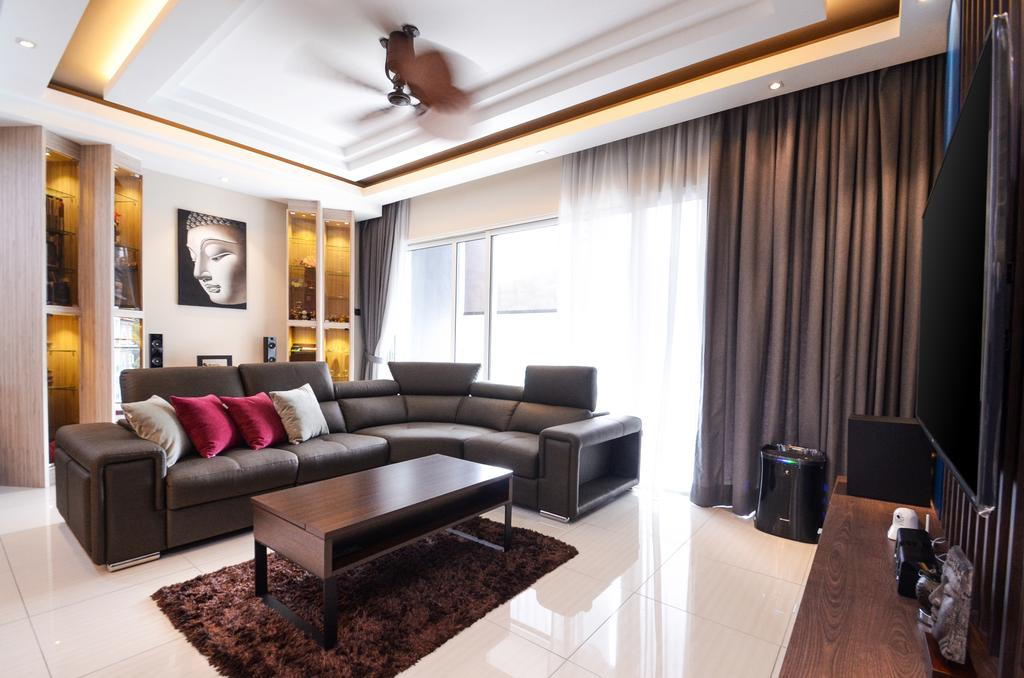 Minimalistic, Landed, Damansara Foresta, Interior Designer, Interior+ Design Sdn. Bhd., Modern, Couch, Furniture, Indoors, Interior Design, Room