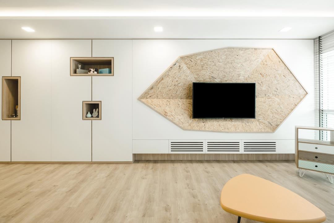 Bukit Batok (Block 622), Lemonfridge Studio, Minimalist, HDB, Indoors, Interior Design, Chair, Furniture, Hole