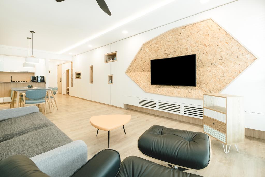 Minimalistic, HDB, Living Room, Bukit Batok (Block 622), Interior Designer, Lemonfridge Studio, Indoors, Interior Design, Mouse, Furniture