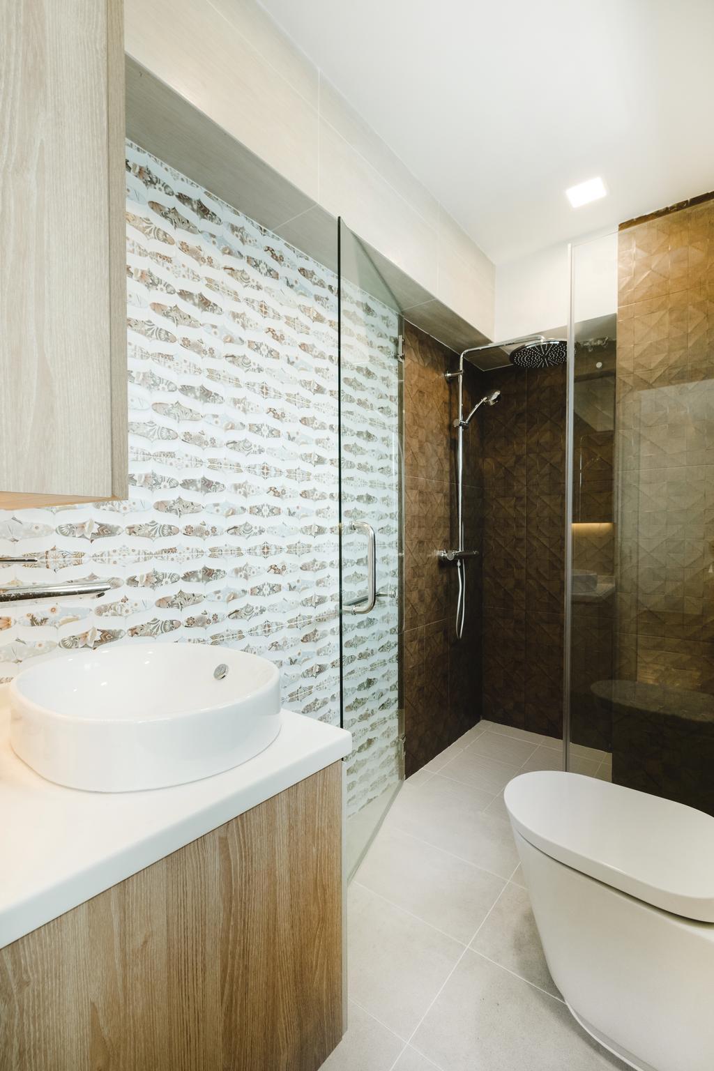 Minimalistic, HDB, Bathroom, Bukit Batok (Block 622), Interior Designer, Lemonfridge Studio, Indoors, Interior Design, Room