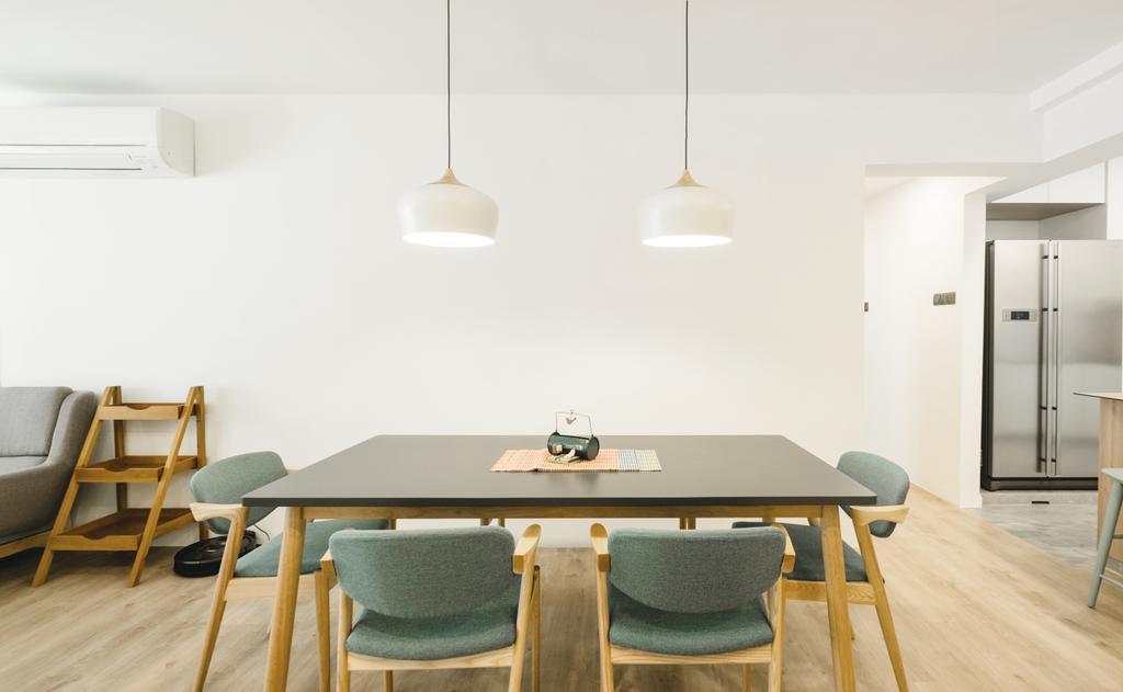 Minimalistic, HDB, Dining Room, Bukit Batok (Block 622), Interior Designer, Lemonfridge Studio, Chair, Furniture, Indoors, Interior Design, Room, Dining Table, Table