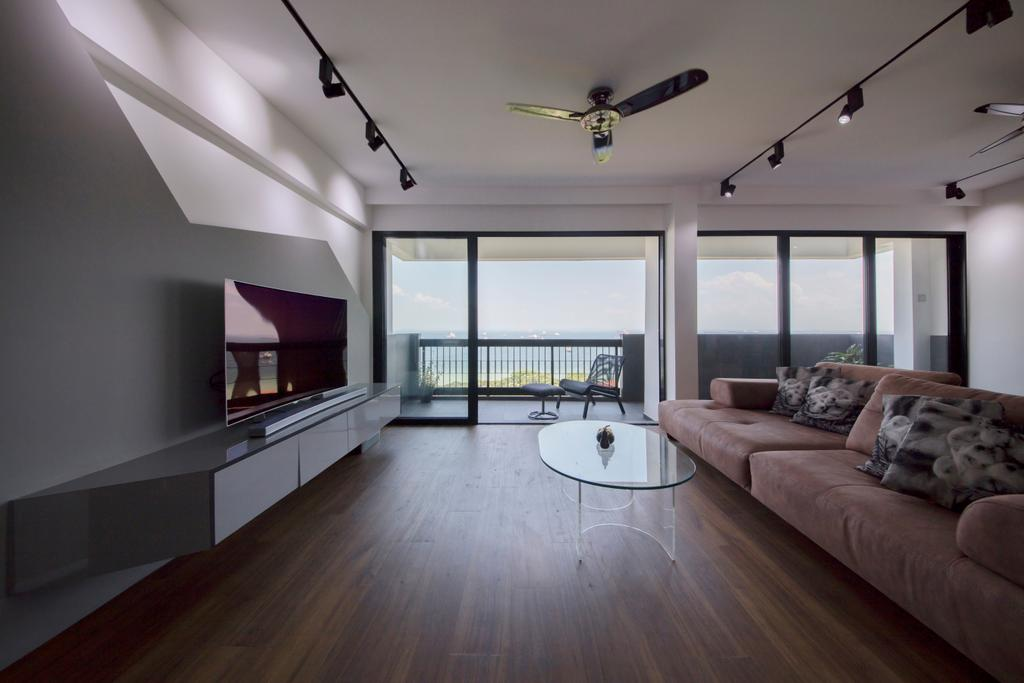 Contemporary, Condo, Living Room, Laguna Park, Interior Designer, Metamorph Design, Couch, Furniture, HDB, Building, Housing, Indoors, Loft, Flooring, Hardwood, Wood