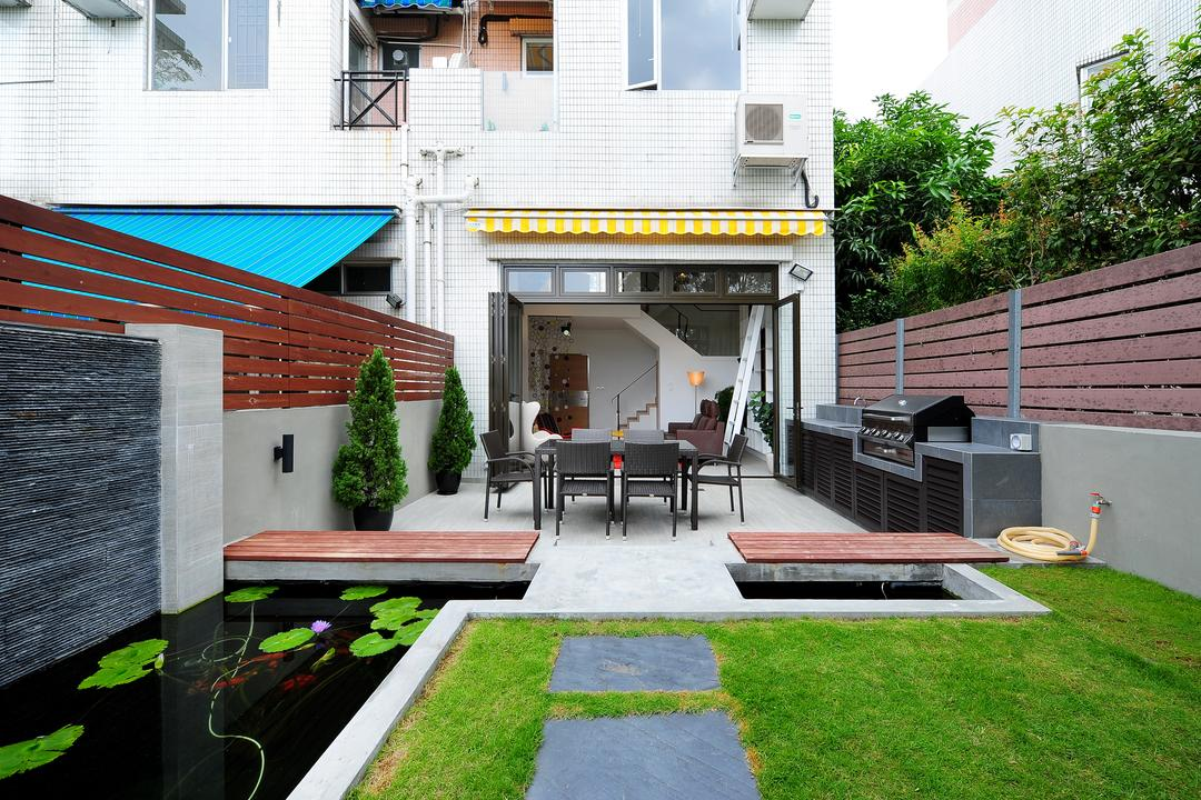 加州花園, Krispace Design Consultancy, 當代, 隨性, 摩登, 花園, 獨立屋, Building, House, Housing, Villa