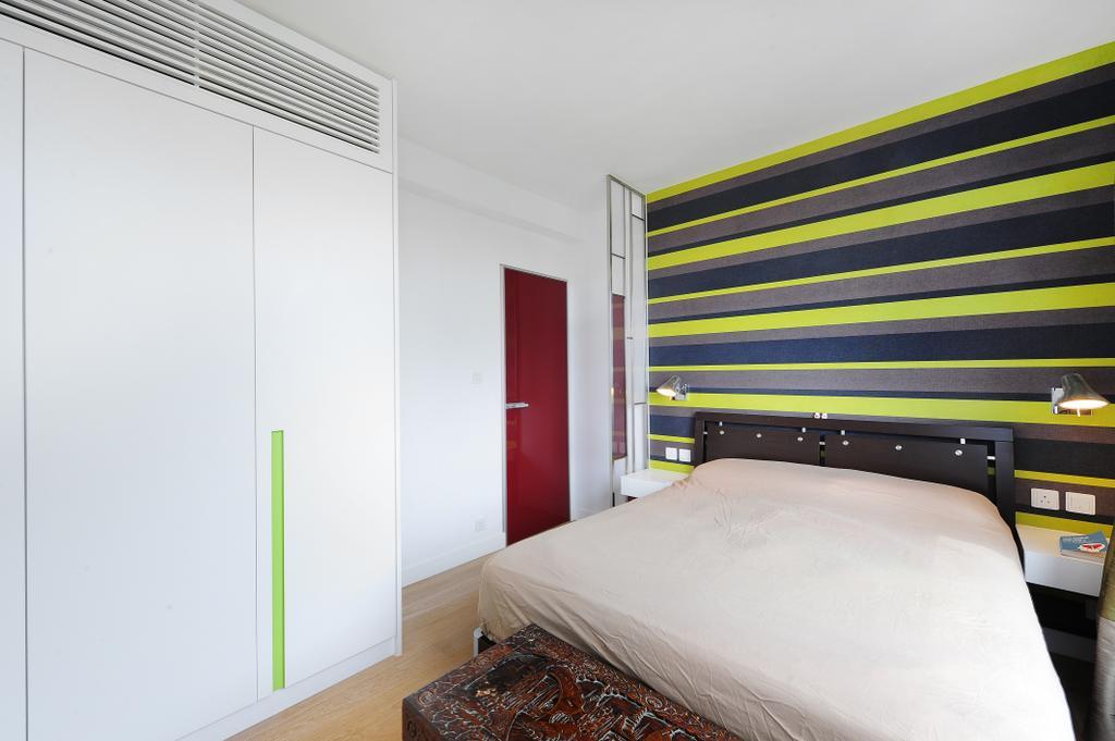 當代, 獨立屋, 睡房, 加州花園, 室內設計師, Krispace Design Consultancy, 隨性, 摩登, Bed, Furniture, Indoors, Interior Design, Room, Door, Sliding Door