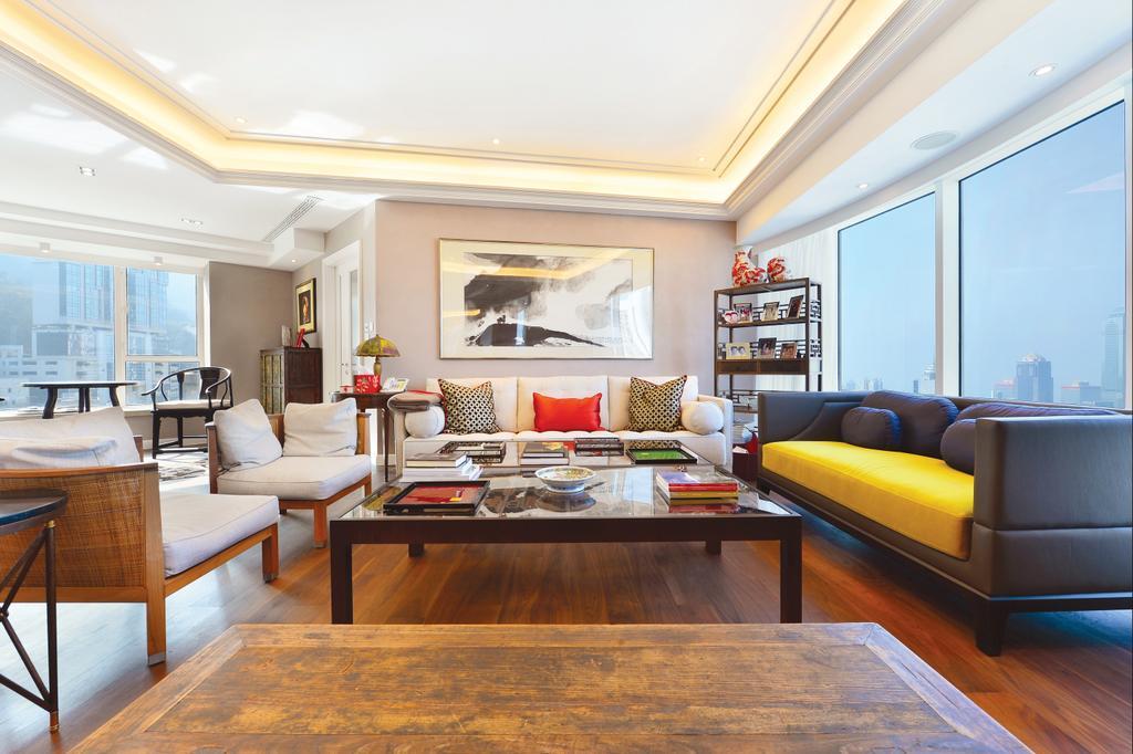 當代, 私家樓, 客廳, 富匯豪庭, 室內設計師, Krispace Design Consultancy, Couch, Furniture, Chair, Indoors, Room, Interior Design, Hardwood, Wood