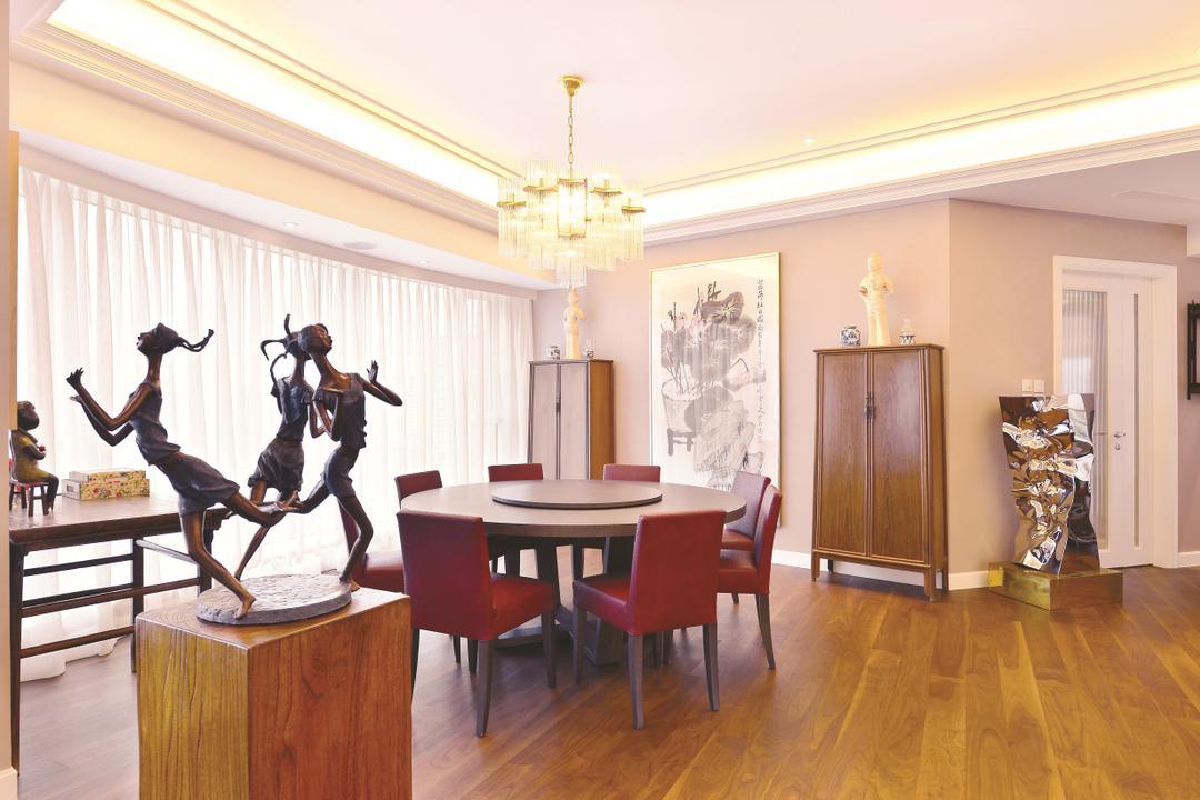 富匯豪庭, Krispace Design Consultancy, 當代, 私家樓, Flooring, Dance, Dance Pose, Leisure Activities, Dining Table, Furniture, Table, 飯廳, Indoors, Interior Design, Room, Hardwood, Wood