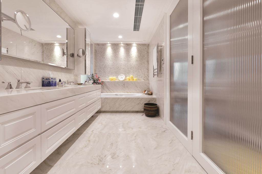 當代, 私家樓, 浴室, 富匯豪庭, 室內設計師, Krispace Design Consultancy