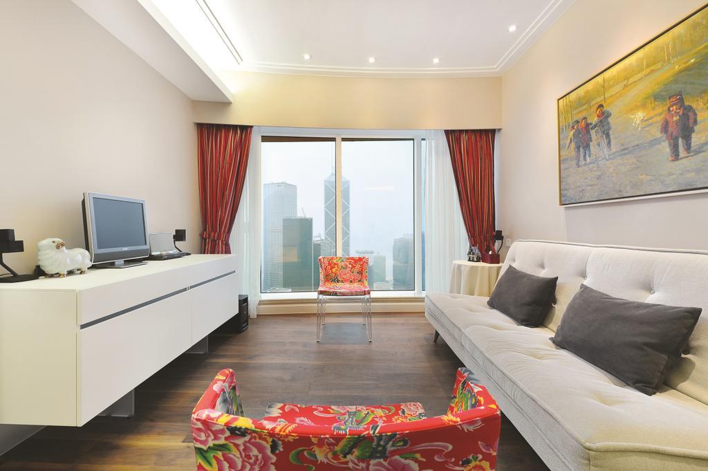 當代, 私家樓, 富匯豪庭, 室內設計師, Krispace Design Consultancy, Indoors, Room, Couch, Furniture