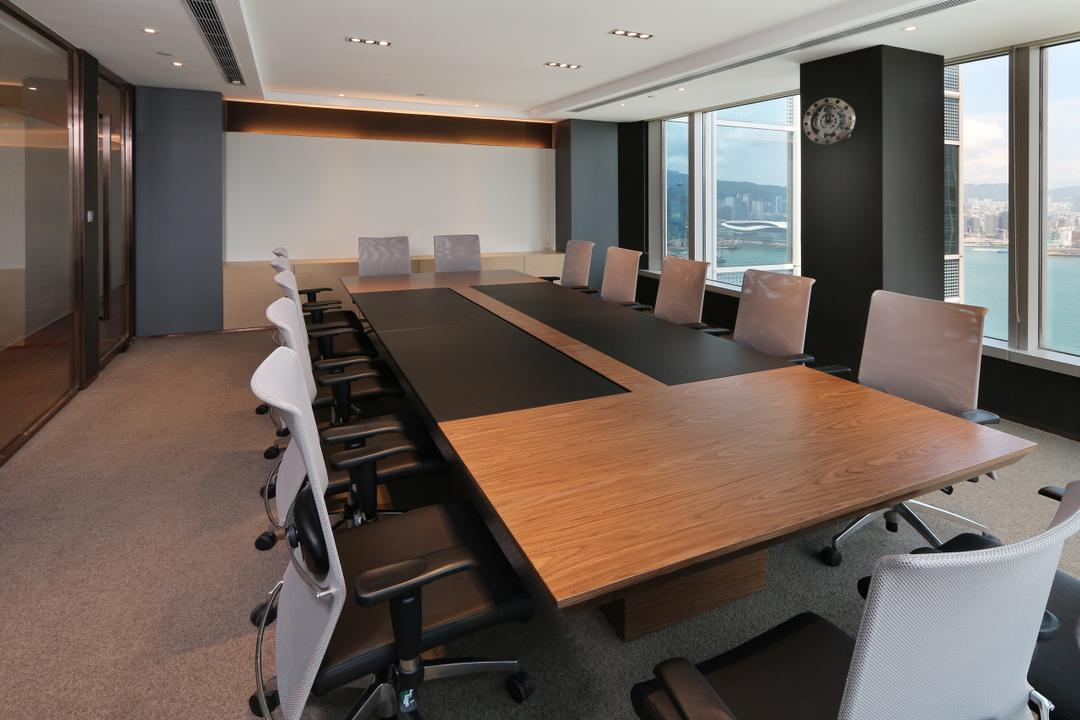 Asia Pacific Port, Krispace Design Consultancy, 摩登, 商用, Conference Room, Indoors, Meeting Room, Room, Dining Table, Furniture, Table, Plywood, Wood