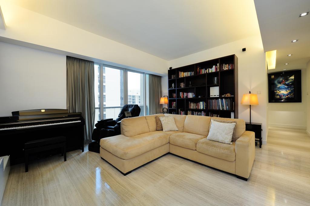 摩登, 私家樓, 客廳, 嘉雲台, 室內設計師, Krispace Design Consultancy, Couch, Furniture, Indoors, Interior Design, Leisure Activities, Music, Musical Instrument, Piano